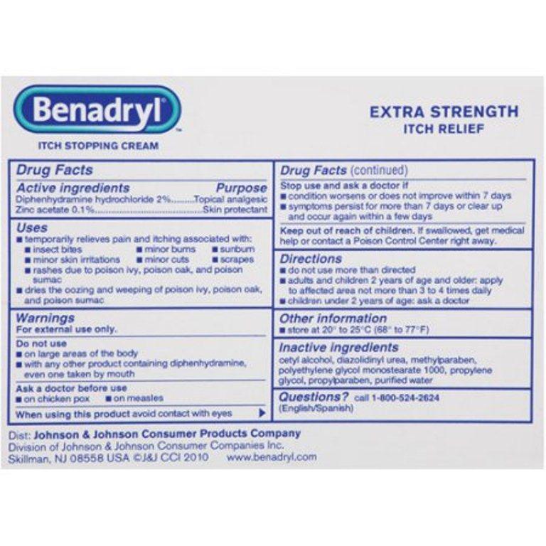 KEM THOA TRỊ NGỨA DO CÔN TRÙNG CẮN HAY VIÊM DA BENADRYL - Benadryl