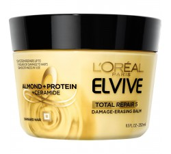 KEM Ủ TÓC LẠNH / NÓNG L'Oreal Paris Elvive Total Repair 5 Damage-Erasing Balm, Almond and Protein, 8.5 fl. oz.