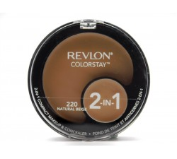 PHẤN PHỦ CHE KHUYẾT ĐIỂM Revlon Colorstay 2-in-1 Compact Makeup and Concealer, Natural Beige 220